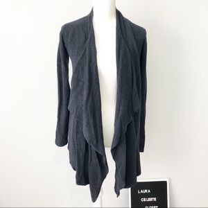 Barefoot Dreams navy cozy calypso open cardigan